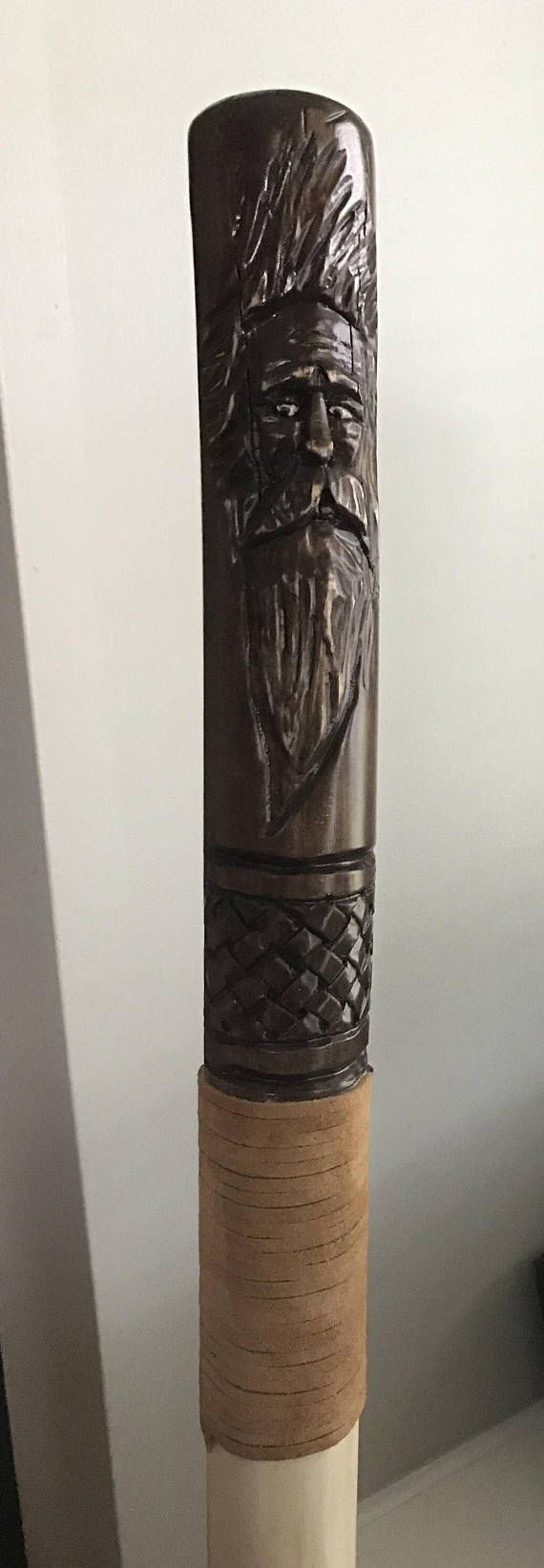 Hand carved walking stick