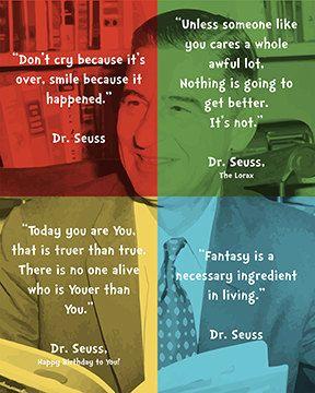 4 Printable Dr. Seuss Portrait / Quote Digital by BallyhooDesign