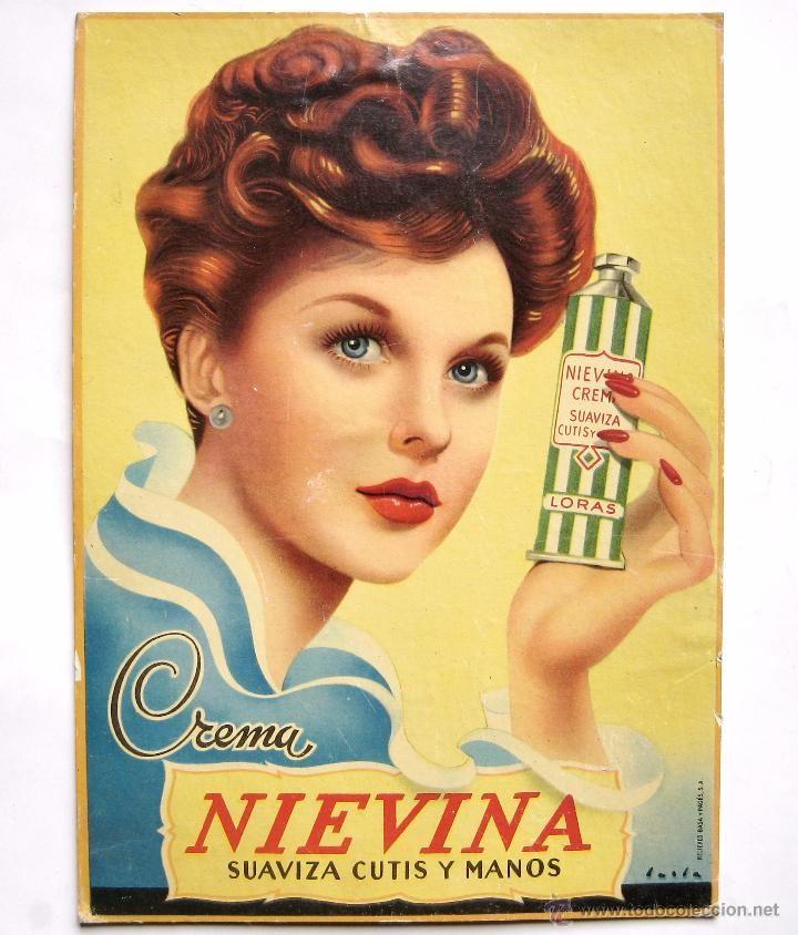 Cartel display publicidad de crema para el cutis nievina - Electrodomesticos retro ...