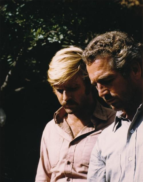 Robert Redford and Paul Newman - God I love this photo so hard ❤