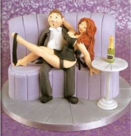 bachelor party cake - funny