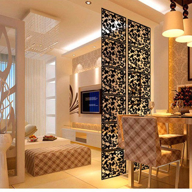 Free Shipping 4pcs Lot Hanging Screen Partition Brief Personalized Paravent Decoration Room Dividers Grille Decoration