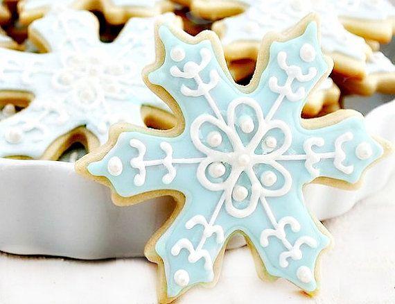 Frozen Snowflake Cookies - 1 Dozen (12) Frozen cookies - Disney Frozen Birthday Party
