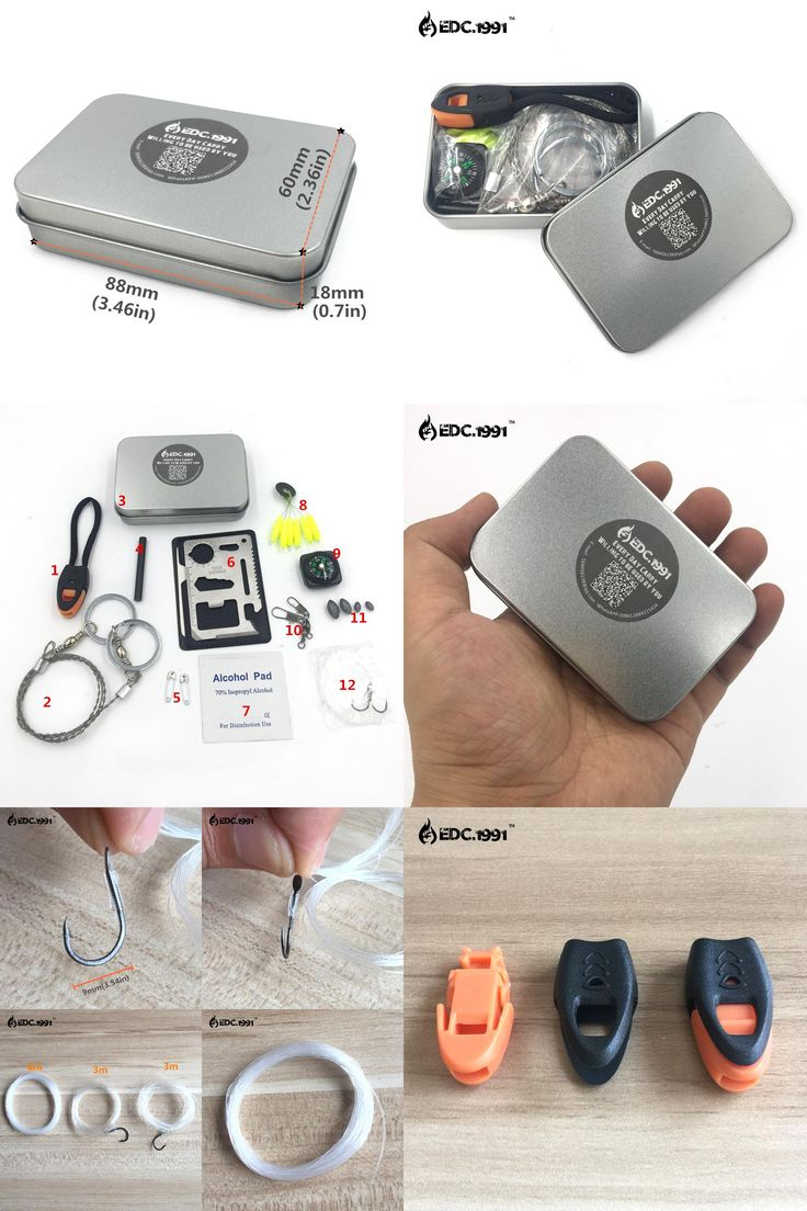 [Visit to Buy] EDC.1991 Emergency Equipment SOS Kit Car Earthquake Emergency Supplies Fishing Kit SOS Outdoor Camping Tool Survival Gear #Advertisement