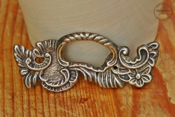 Vintage Art Nouveau Style Brass Drawer Handle by VintageMedreana, $9.00