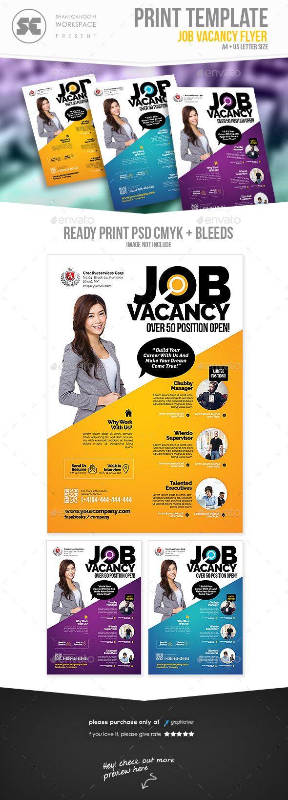 Job Vacancy Flyer Template PSD