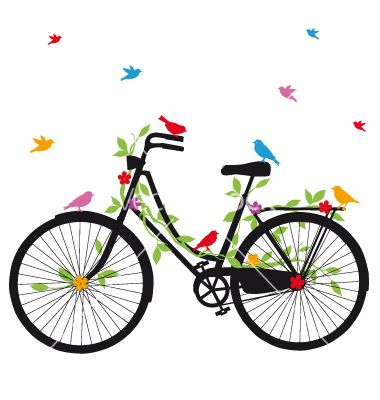 Old bicycle with birds vector 1061181 - by amourfou on VectorStock®