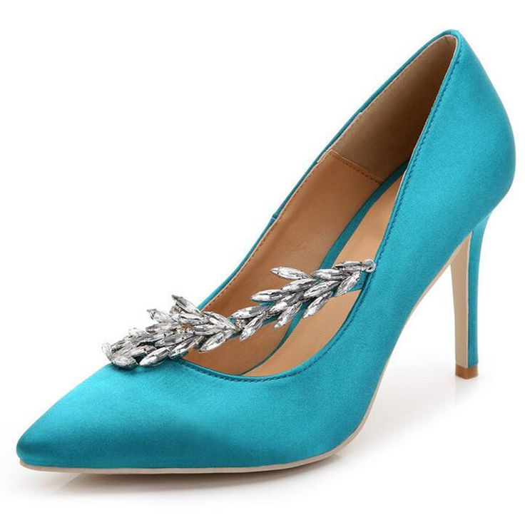 Bling Rhinestone Wedding Shoes Woman Pointed Toe Crystal Thin High Heels Platform Sexy Pumps Shoes Size 35-43 XWD2699