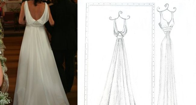 Mirror View Dress – Pencil | Pretty as a Picture. Gorgeous sketch of wedding dress by Ailbhe Ryan of Pretty as a Picture. #weddingdress #weddingdresssketch #beautifuldress #prettyasapicture #weddingdressportrait