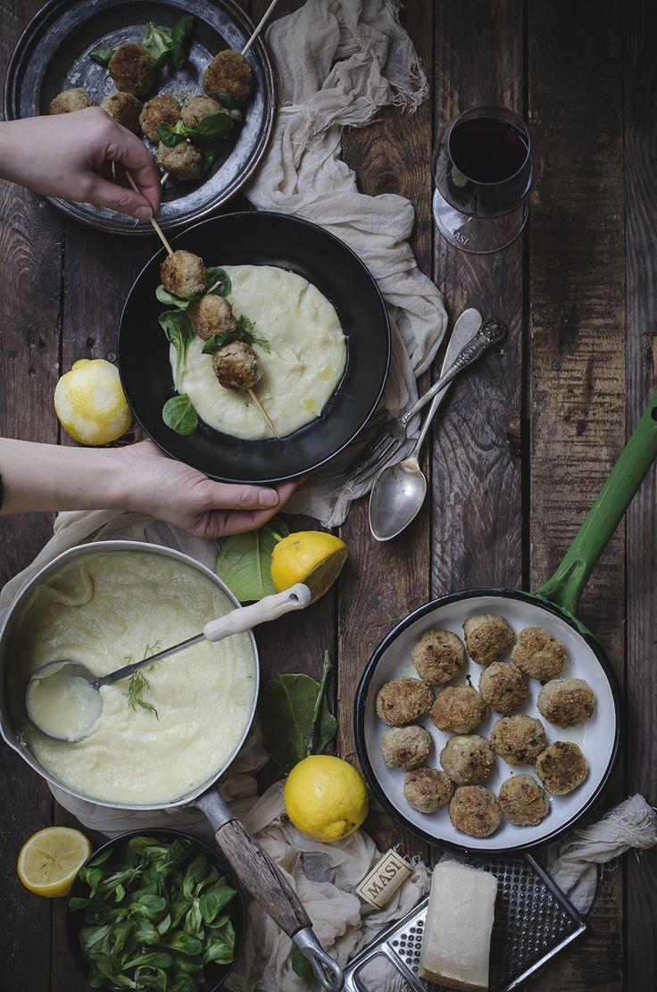 Polpette di maiale al limone e zenzero e purè di patate e finocchi (Ricetta ispirata al vino Campofiorin di Masi)