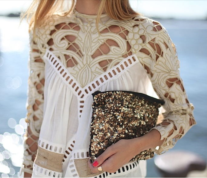 lace + glitter              Love,love this very feminine, absolutely gorgeous top....