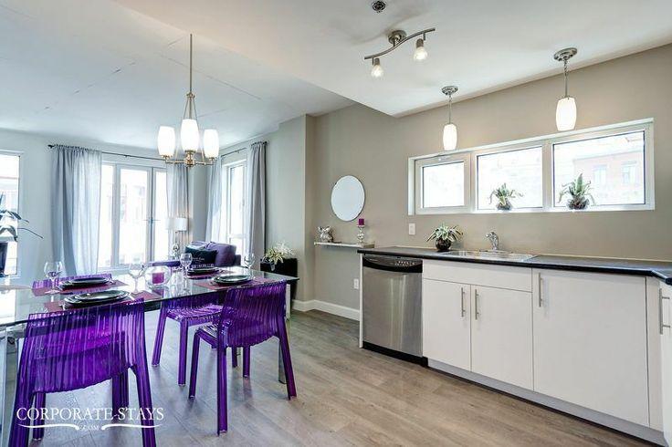 Book our stylish 'Quintessance' apartment for your perfect Quebec City trip #businesstravel #Quebec #ModernApartment