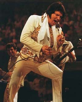 June 26, 1977. Elvis Presley gives his last public concert at Market Square Arena in Indianapolis, Indiana.