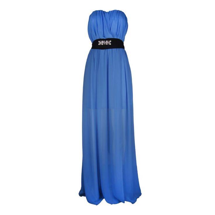 Φόρεμα για γάμο μακρύ, στράπλες με πέτρες στην ζώνη. Για περισσότερα μπείτε στη σελίδα της #tradeNOW ➥ http://www.tradenow.gr/el/post/7862/have/forema-straples-makru  #Fashion