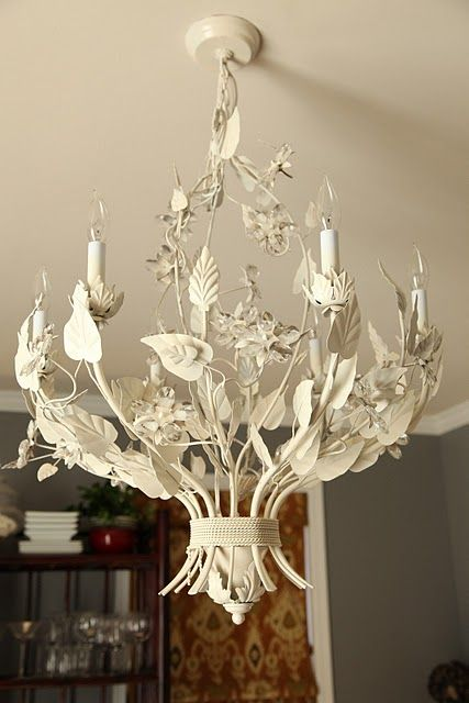 35 best painted chandelierslamps images on pinterest chandeliers spray painted chandelierhns journal aloadofball Images