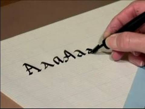 """Learn how to write the letter """"A"""" in calligraphy in this free video series that will teach you everything you need to know about writing in this sophisticated penmanship style.    Expert: Joanna Joseph  Bio: Joanna Joseph has lived in Canyon Country since 1974. She has been leading hikes in the southwest for the last five years, mostly with Elder H..."""