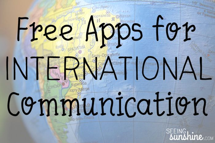 Free apps to use to call, text, and video chat for free internationally. Great for spouses who are stationed overseas or for long international trips!