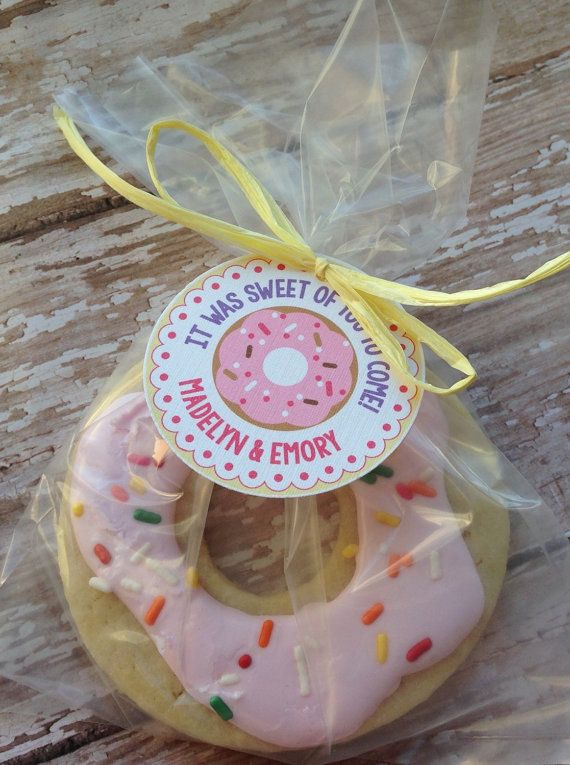 Donut Party Personalized Favor Tags by maddieclaire on Etsy