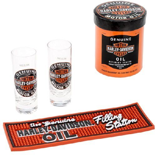 Harley-Davidson Oil Can Shot Glass Gift Set Harley Roadhouse http://www.amazon.com/dp/B003EAHJUC/ref=cm_sw_r_pi_dp_YF3Fub1AT29XH
