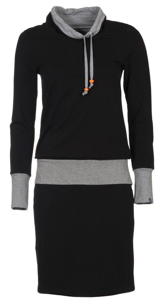 Sportieve zwarte dames jurk Zendee