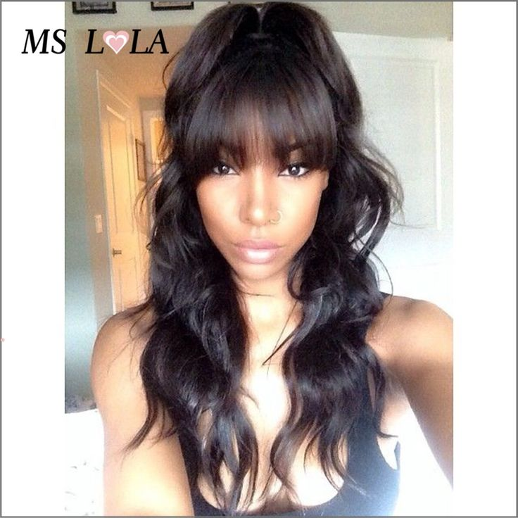 Cheap hair wigs for black women, Buy Quality hair straightener rotating barrel directly from China wigs large cap size Suppliers: Nice Wavy Glueless Full Lace Wig Rosa Hair Wigs Lace Front Wig Brazilian Virgin Human Hair With Full Bangs Baby Hair