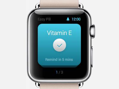 Easy Pill App For Apple Watch 디자인