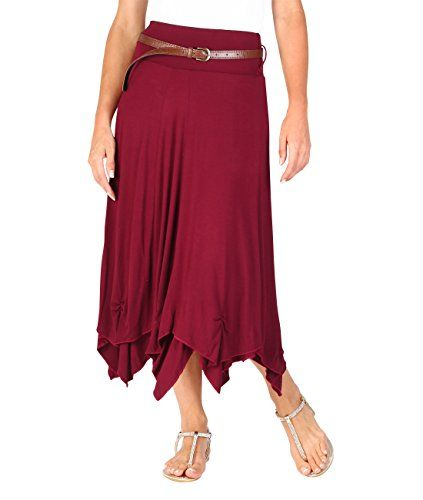 549cb02f39cce4 KRISP 6521-Wine -12: Hitched Up Belted Maxi Skirt Black | Women's ...