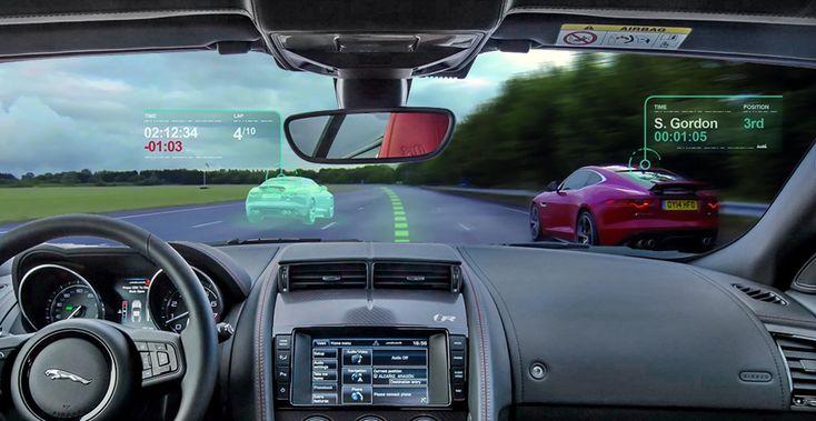 Le nouveau #parebrise #virtuel de #Jaguar comme dans les jeux vidéos ! La technologie ne cessera de nous surprendre... #virtualwindscreen
