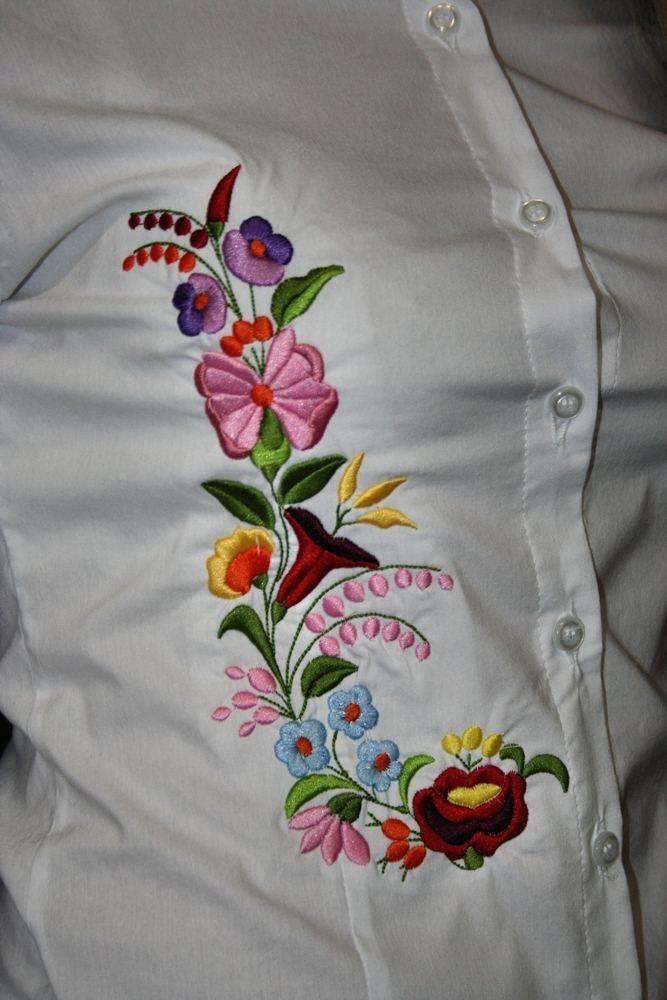 Kalocsai hímzett női ing