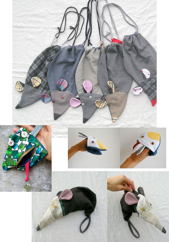 Bolsas, Llaveros y accesorios de telas recicladas. La Gagiandra