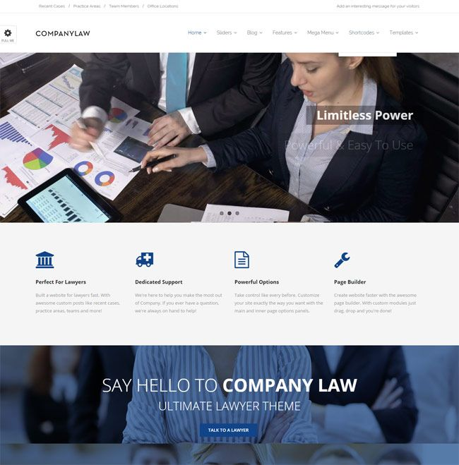 CompanyLaw Lawyer Attorney WordPress Theme