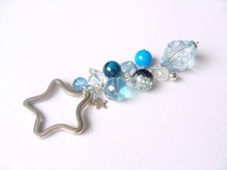 """Keychain """" Star in blue"""" by CarolinePrecjoza on Etsy"""