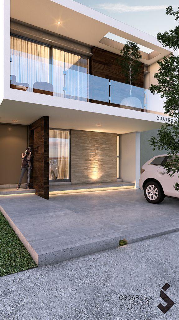 Otro decoracion pinterest casas modernas fachadas y for Casa tipo minimalista