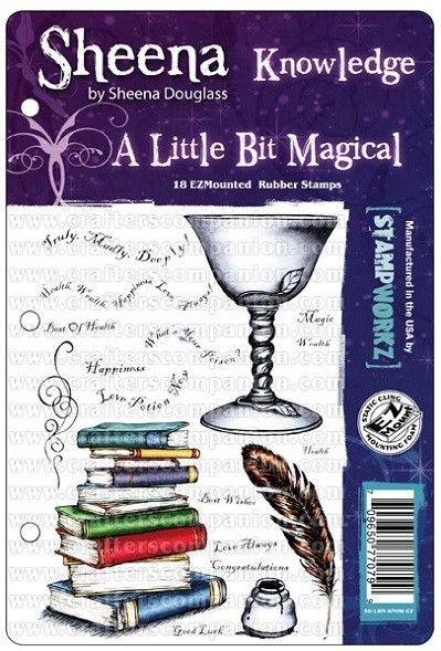 Sheena Douglas - A Little Bit Magical EZMount Stamp Set - Knowledge