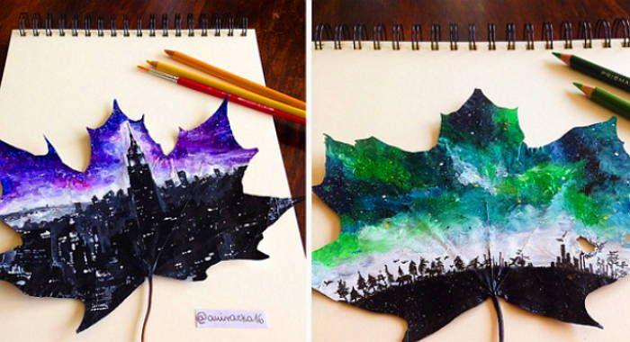 폴란드 여고생이 '낙엽'에 그린 그림 #art #insight