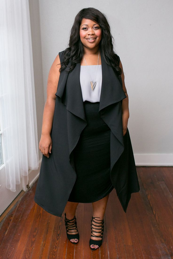 Plus Size Clothing for Women - Chicest Of Them All Vest - Black - Society…