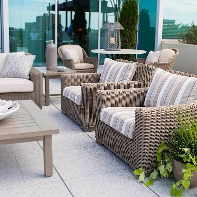 Drinks on the rooftop terrace, anyone? #summerclassics #furniture #patio #terrace #rooftop #alfresco