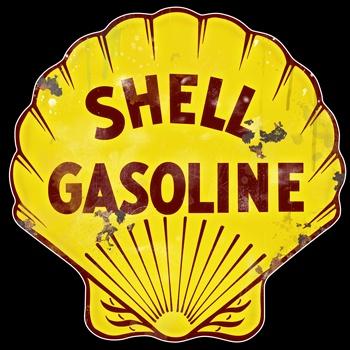 """Shell Gasoline 14"""" Vintage Sign.  www.garageart.com"""