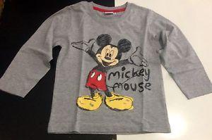 Maglietta manica lunga bambino 6 anni grigio TOPOLINO idea regalo Walt Disney | eBay
