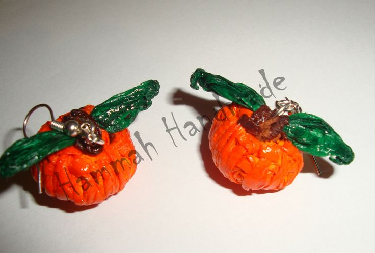 Pumpkin Crepe paper earrings  http://hammah-handmade.wix.com/page#!Cod-CF070/zoom/c1e8c/image1b1y