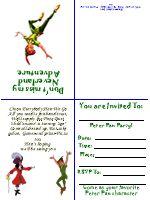 FREE printable Peter Pan Invitations...idea
