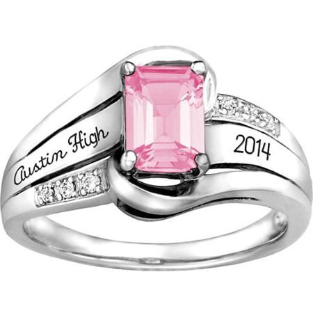 Keepsake Girl's Emerald Fashion Class Ring