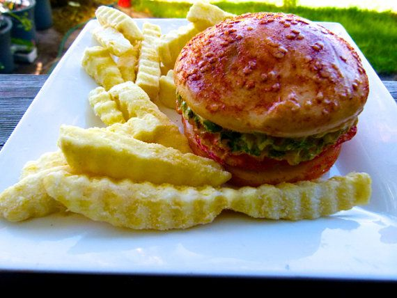 soap hamburger and chips giftrapped  in any by CANDLESOAPHOMEMADE, $15.99