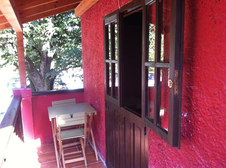 Peque o porche del bungalow tipo torre para 2 personas for Porche pequeno