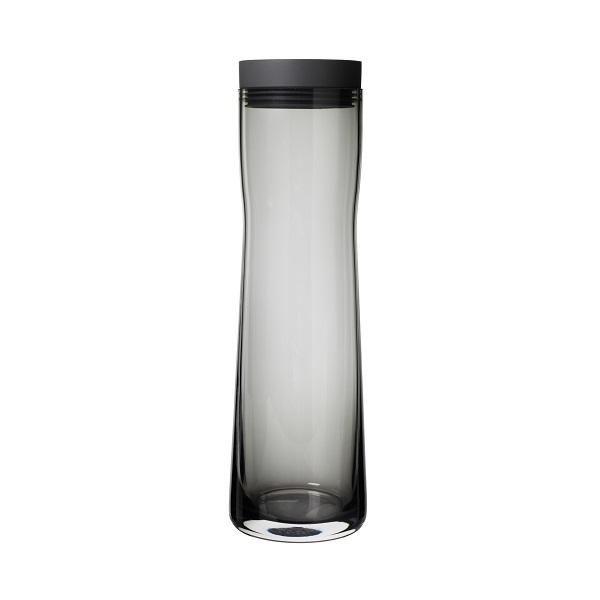 Water Carafe Smoked Glass 34 Oz Self Closing Lid Blomus