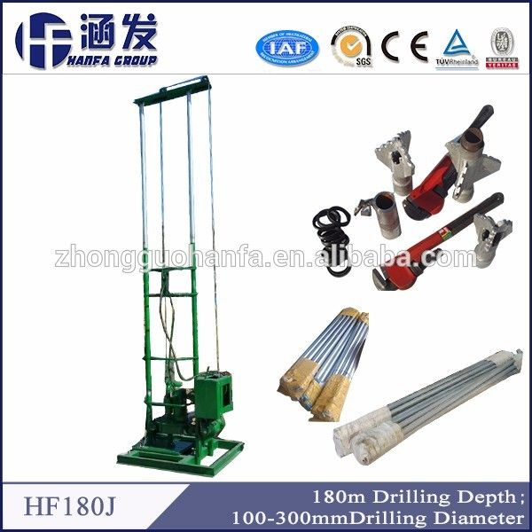 Source 180m Deep Portable Small Water Well Bore Hole Well Drilling Machine Price on m.alibaba.com