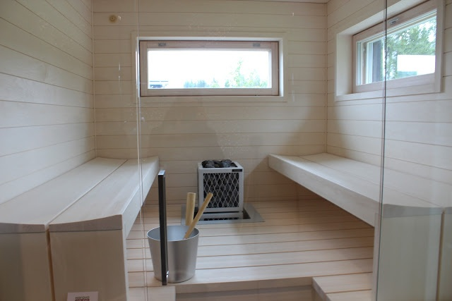 light wood sauna