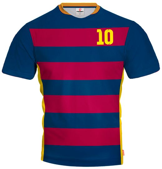 LIGA BARCELONA 2015/16 HOME Football Jersey With Custom Name and Number
