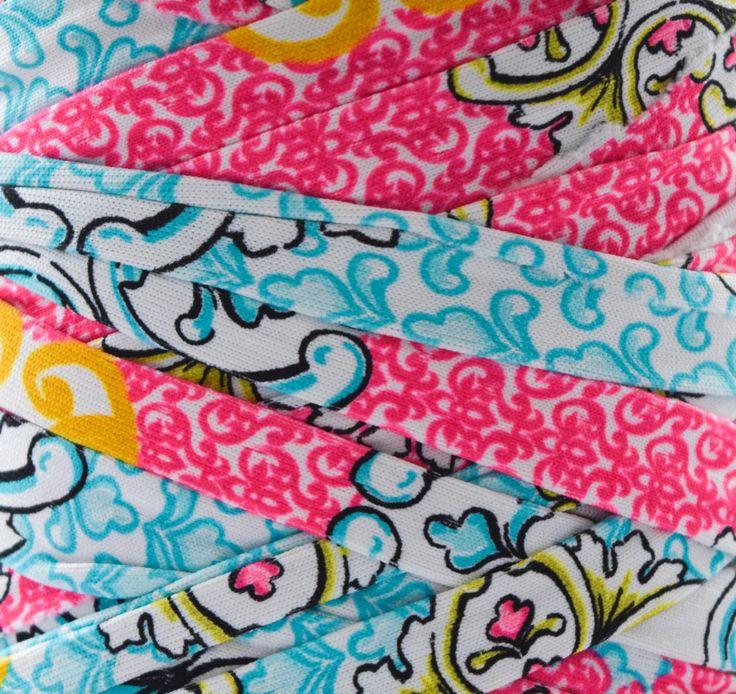 GANXXET Fabric Yarn - Mumbai ( turquoise, ocher and pink ethnic print )