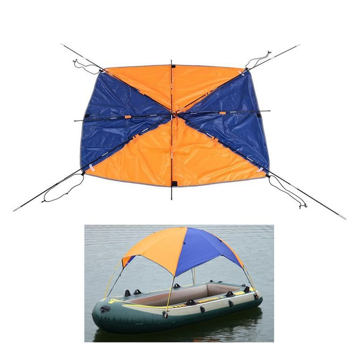 Inflatable Boat Kayak Accessories Fishing Sun Shade Rain ...